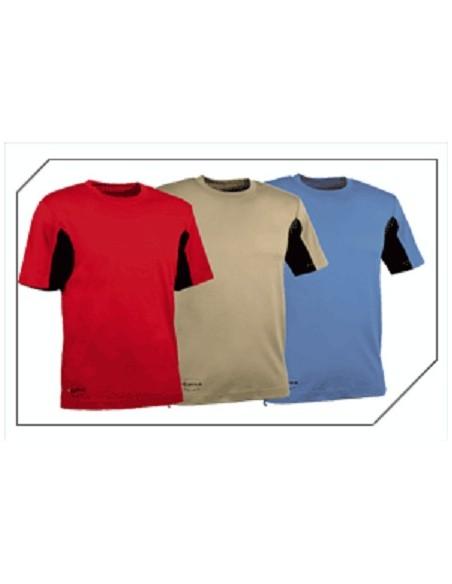 GUADALUPA Tee-shirt de travail manches courtes 100 % coton mercerisé inserts 100 % cooldry®