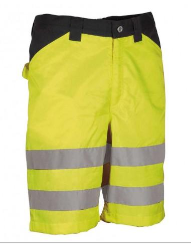 MIRANTE Bermuda de travail -  haute visibilité classe1 - 65% polyester 35% coton  - 245gr/m²