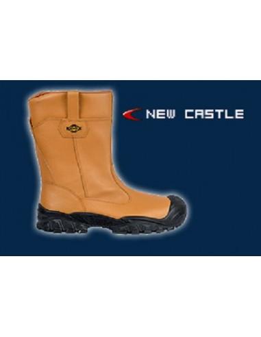 NEW CASTLE UK S3 CI SRC Bottes de sécurité cuir avec doublure