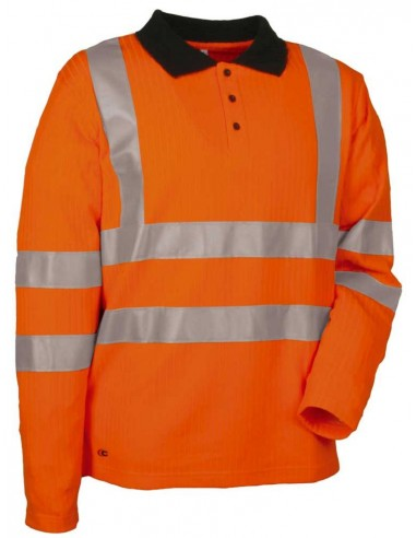 NEW HIGHWAY Polo manches longues 50 % coton 50 % polyester