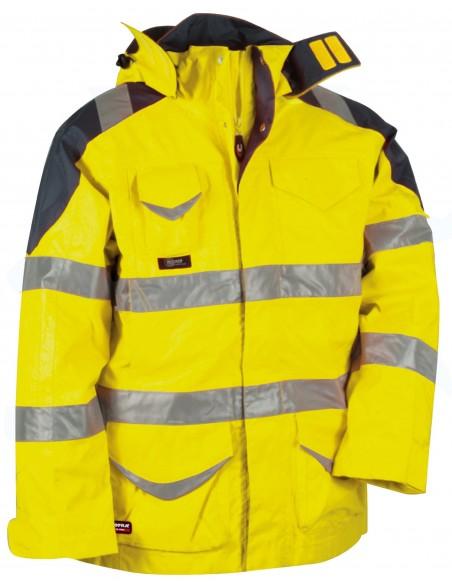 PROTECTION Parka haute visibilité 3en1 100 % pes enduit PU 200gr