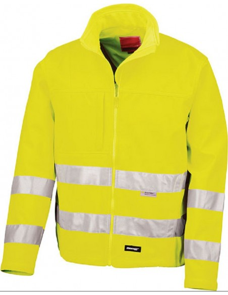 Veste haute visibilité hydrofuge 3 couches  93 % polyester 7 % élasthanne