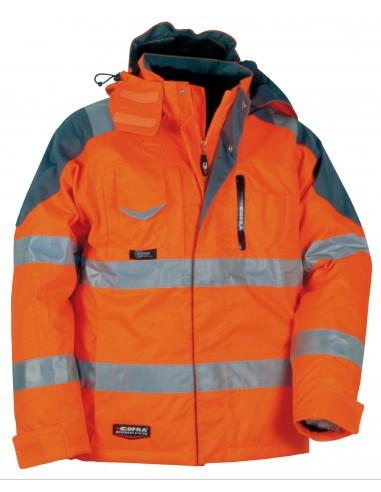 RESCUE Parka haute visibilité 100 % polyester enduit PU 200g