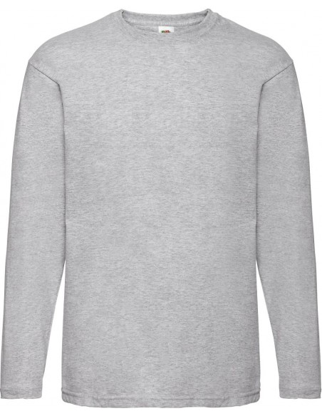 Tee-shirt unisexe manches longues col rond 100 % coton