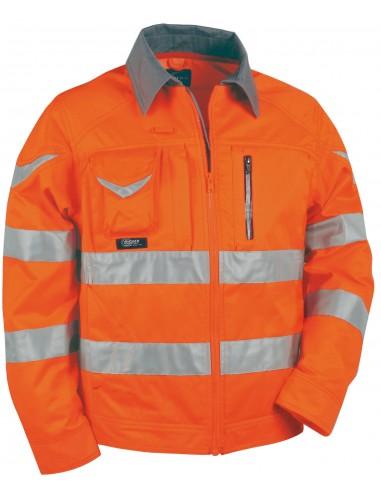SIGHT Blouson zippée 5 poches haute visibilité 60 % coton 40 % polyester 240gr