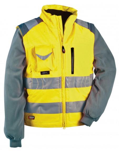 SIGNAL Blouson zippé manches amovibles haute visibilité 200gr 100 % polyester enduit PU