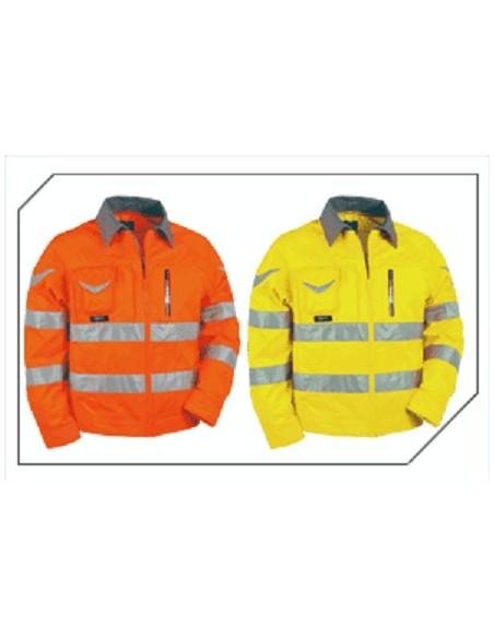 WARNING Blouson zippée 5 poches haute visibilité 40 % coton 60 % polyester 290gr