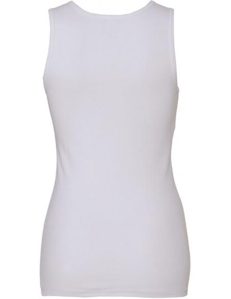 Débardeur femme sportswear coupe moulante 100 % coton peigné pré rétréci