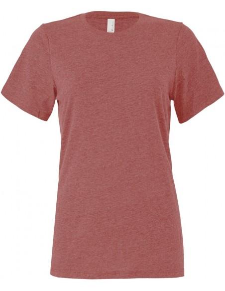 Tee-shirt femme manches courtes col rond 100% coton peigné Ring-Spun 145 g/m²