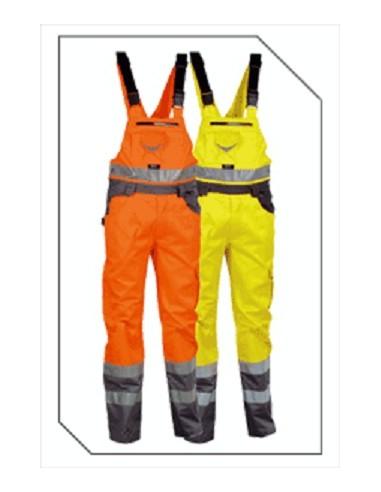 BRIGHT Cotte  bretelles haute visibilité 40 % coton 60 % polyester 290gr