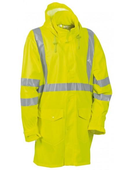CARACAS Manteau de pluie haute visibilité polyester enduit PU