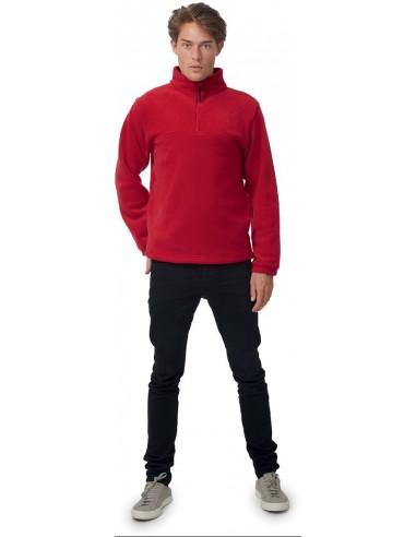 Polaire unisexe sportswear col zippé 2 poches 100 % polyester 300gr