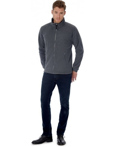 Blouson unisexe sportwear polaire zippé 100 % polyester