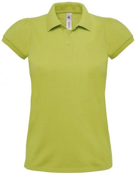 Polo femme manches courtes 2 boutons 100 % coton peigné pré-rétréci 230gr