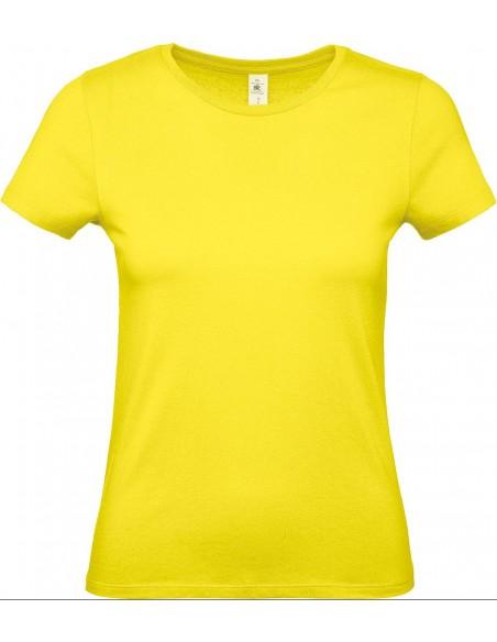 Tee-shirt femme col rond manches courtes 100 % coton ring spun 145g