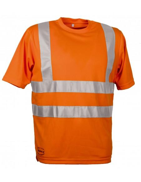 DANGER Tee-shirt 100 % polyester 3D. classe II. Bandes réfléchissantes 3M horizontales et verticales
